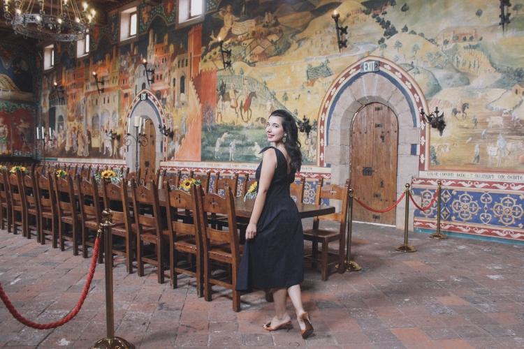 Castello di Amorosa, Napa Valley, wine tasting, Medieval, The Middle Ages, castle, Castello di Amorosa, Calistoga, architecture, Napa outfit, black dress, Fendi, Prada, lookbook, summer style, classic style, chic, fashion editorial, interior design