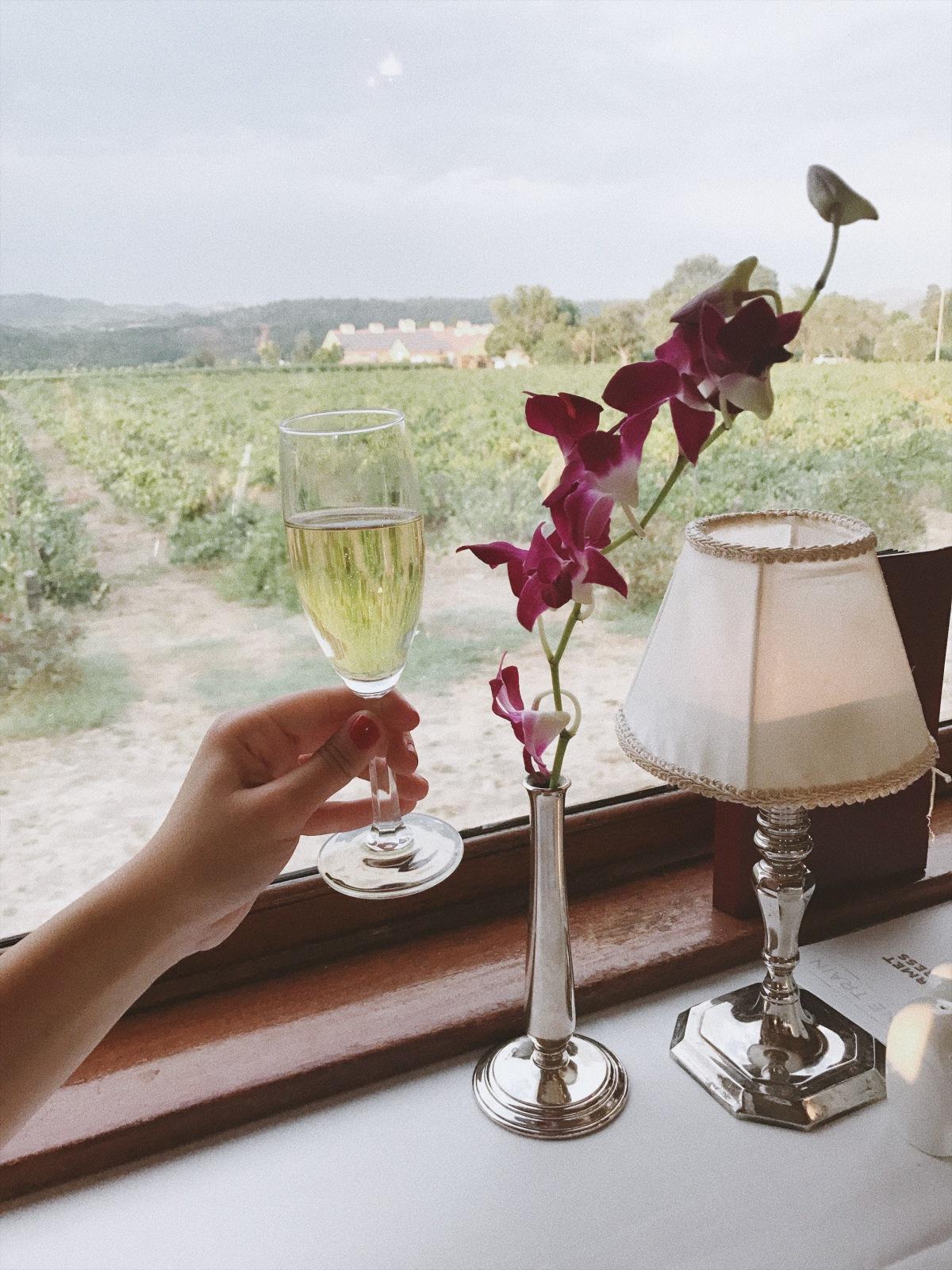 Napa Valley Wine Train, Napa, Dom Perignon, champagne