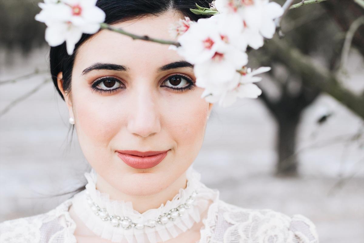 Fashion Editorial in Blossoms