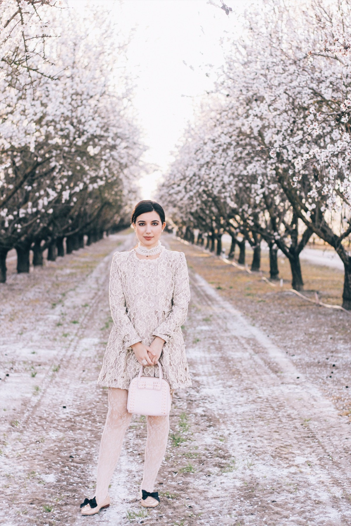 lace, coat, Kate Spade, loafers, pink, vintage, choker, girly, blossoms, spring, spring lookbook, spring outfit, high fashion, couture, fashion editorial, necklace, floral, spring style, style, outfit of the day, ootd, lotd, bows