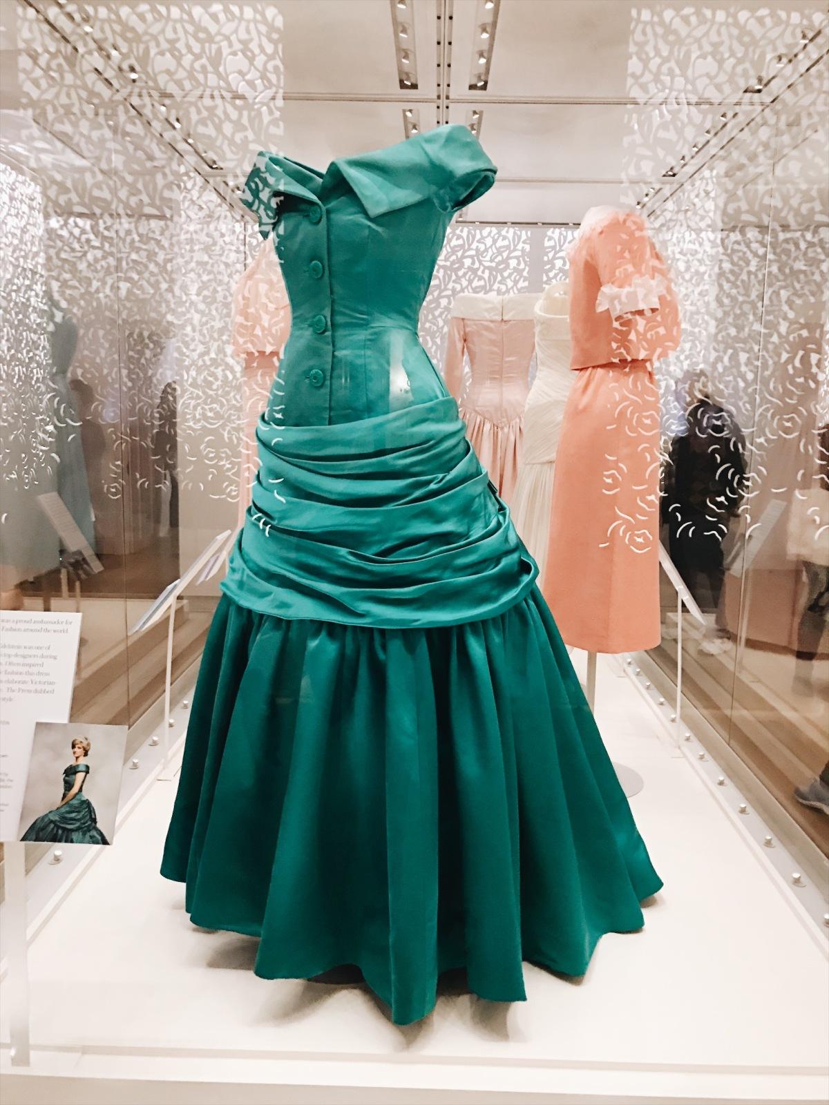 Princess Diana: Her Fashion Story, Princess Diana, fashion exhibit, Kensington Palace, London, UK, United Kingdom
