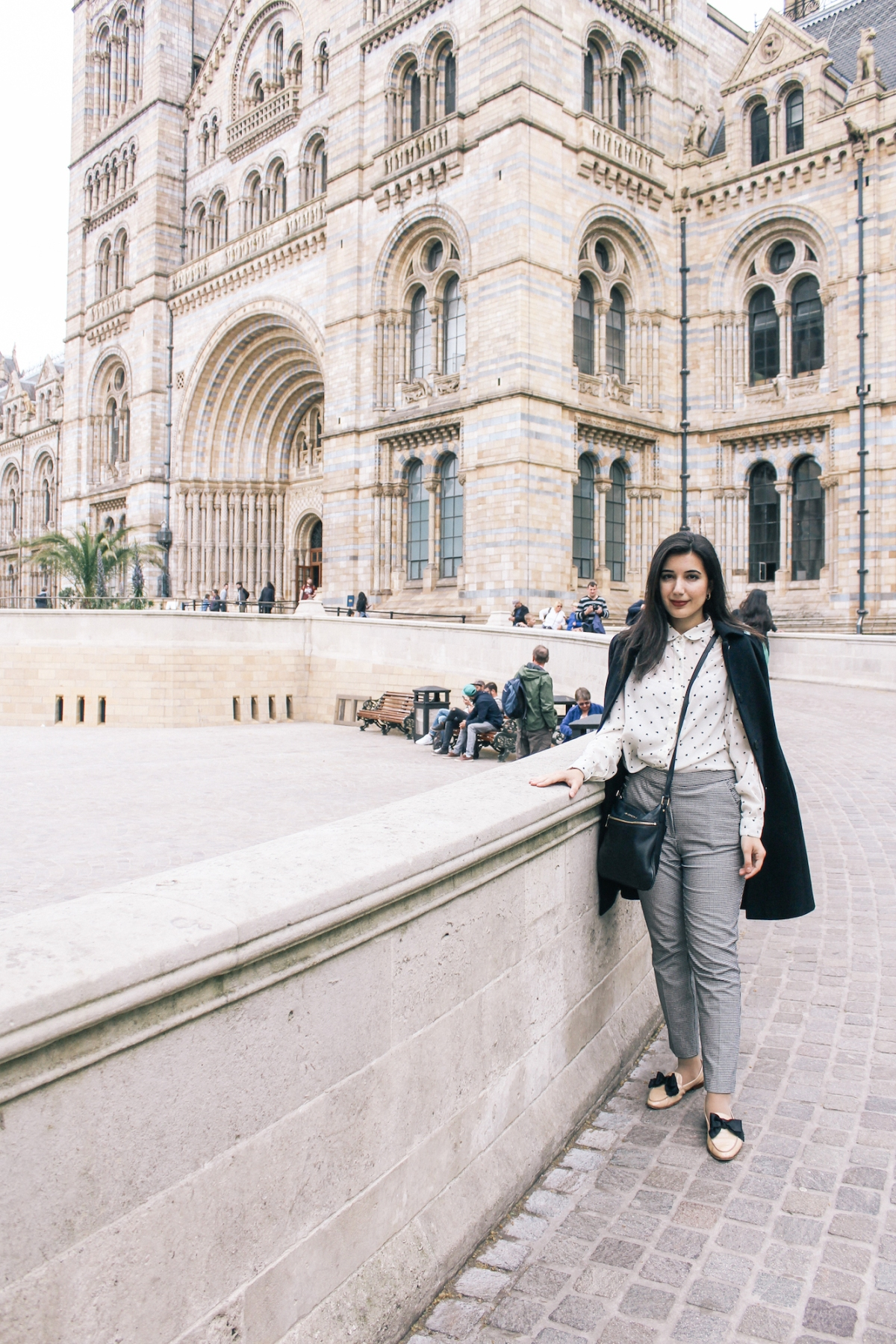 South Kensington, London, United Kingdom, London fashion, lookbook, fashion blogger, gingham pants, collared top, chic, Kate Spade, Zara