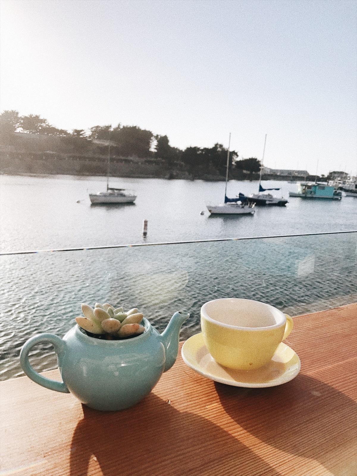 Monterey, California, coffee shop, Water and Leaves, Fisherman's Wharf