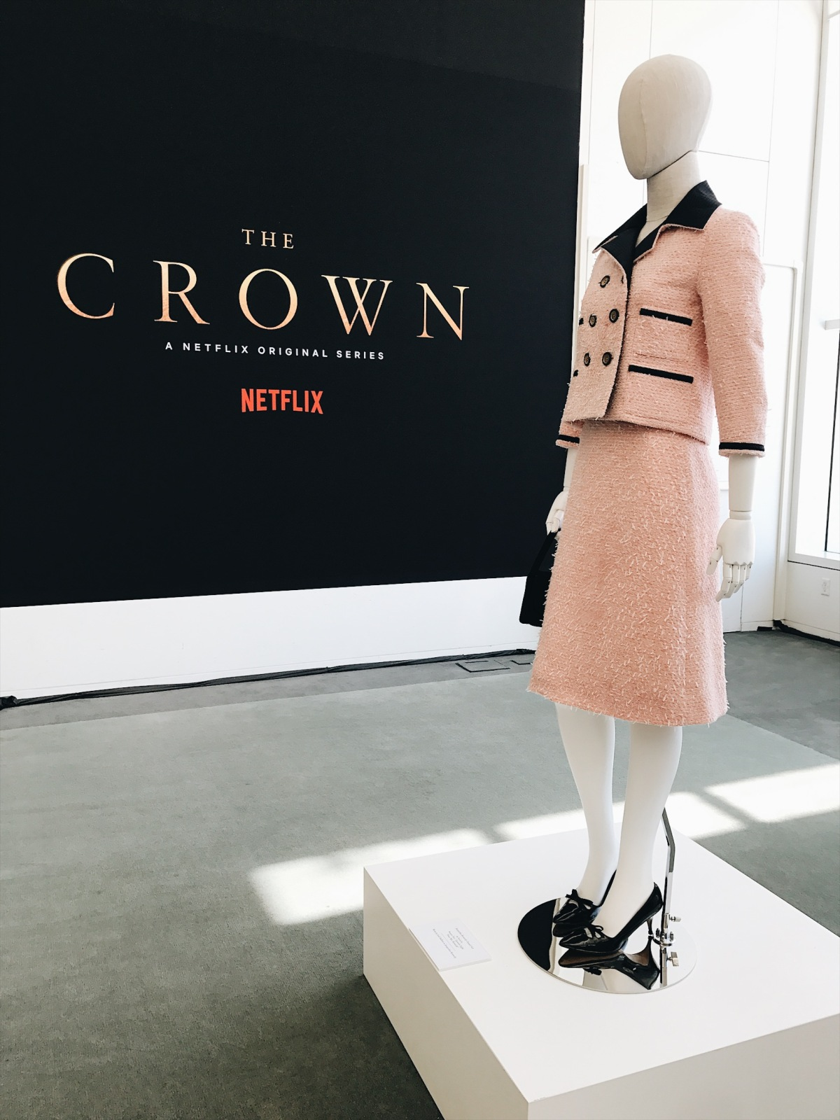 The Crown, Netflix's The Crown, Claire Foy, Matt Smith, Vanessa Kirby, Matthew Goode, Michele Clapton, costume design, Paley Center for Media, Beverly Hills, television costume design, Windsor family, The Royal Family, Gal Meets Glam collection, Louis Vuitton, gingham dress, vintage fashion, fifties fashion, mid-century fashion, forties fashion, lookbook, fashion blogger, red lips, outfit of the day, ootd, summer fashion, museum exhibition, fashion exhibition, Jackie Kennedy, Jackie-O, Jacqueline Kennedy, Queen Elizabeth II, Princess Margaret