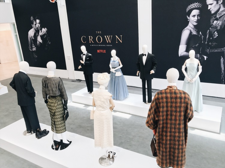 The Crown, Netflix's The Crown, Claire Foy, Matt Smith, Vanessa Kirby, Matthew Goode, Michele Clapton, costume design, Paley Center for Media, Beverly Hills, television costume design, Windsor family, The Royal Family, Gal Meets Glam collection, Louis Vuitton, gingham dress, vintage fashion, fifties fashion, mid-century fashion, forties fashion, lookbook, fashion blogger, red lips, outfit of the day, ootd, summer fashion, museum exhibition, fashion exhibition, Queen Elizabeth II, Princess Margaret