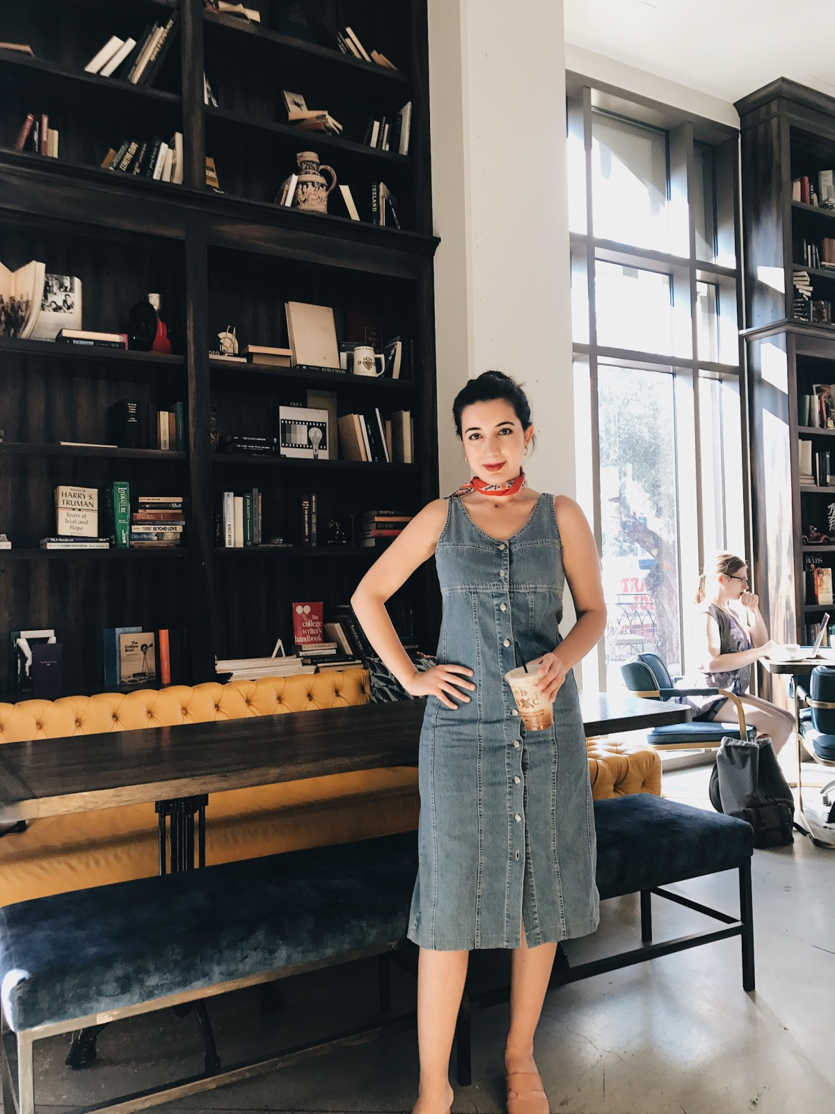 The Butcher The Baker The Cappucino Maker, BBCM Cafe USC, bookish, Los Angeles books, Zara, culottes, black tank top, vintage fashion, fashion blogger, style blogger, book blogger