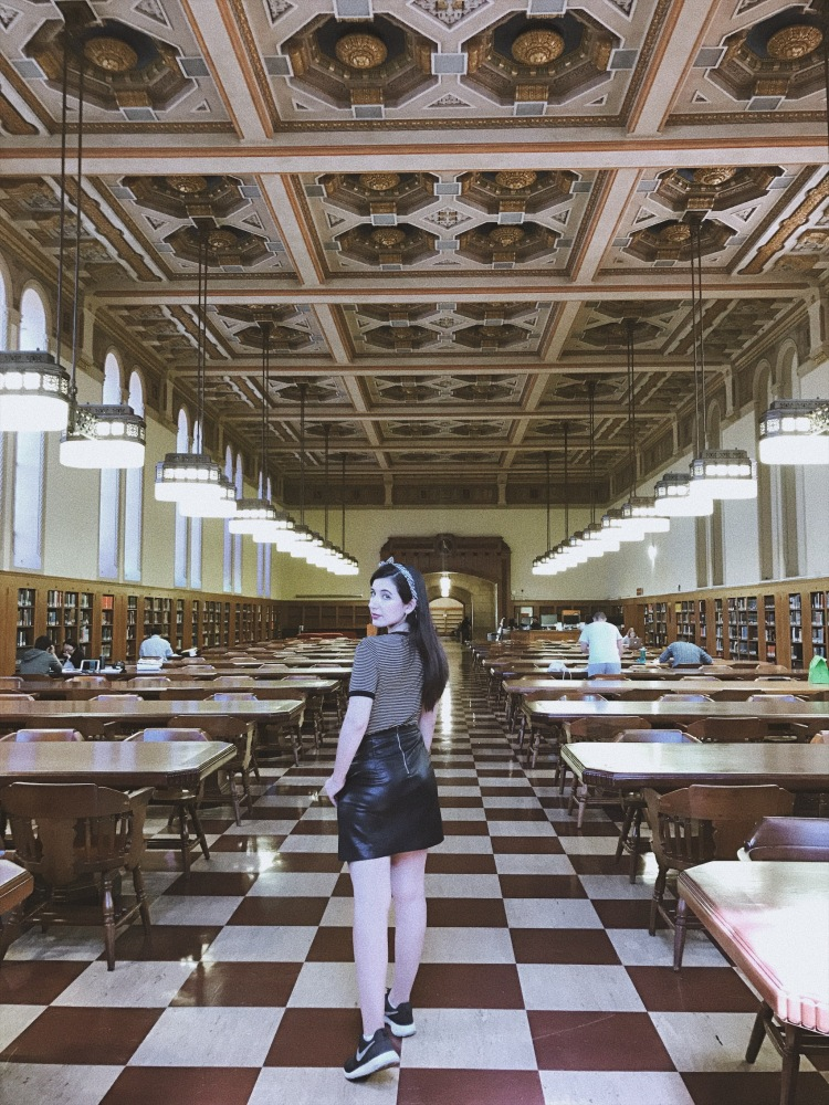 Doheny Library, USC, university library, 19th century library, interiors, architecture, lookbook, fashion blogger, style blogger, book blogger, bibliophile, ootd
