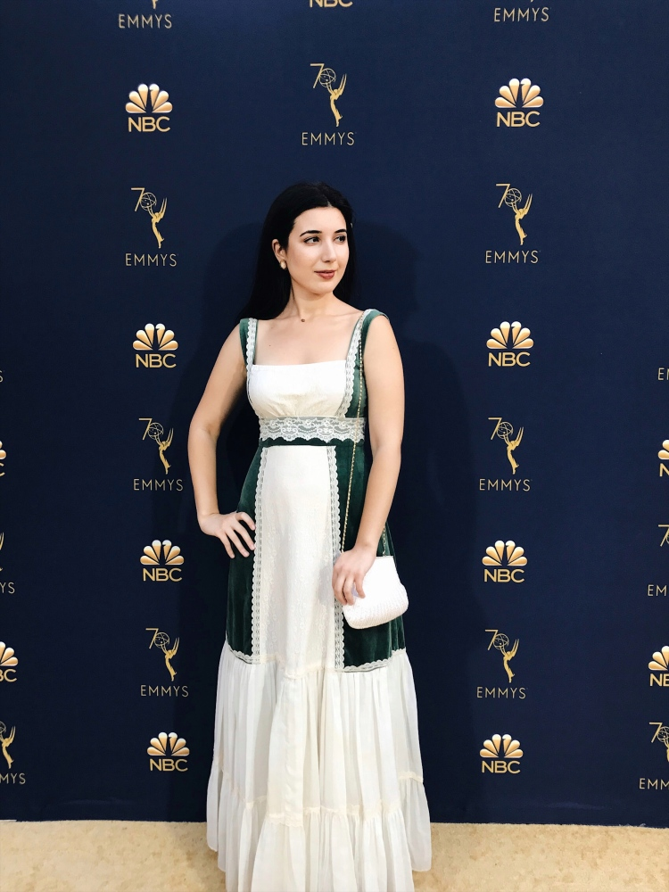 Emmys 2018 Red Carpet, red carpet, NBC Emmys 2018, Emmys, Television Academy, NBC, red carpet look, vintage dress, vintage evening gown, lace evening gown, evening gown, look of the night, best dressed