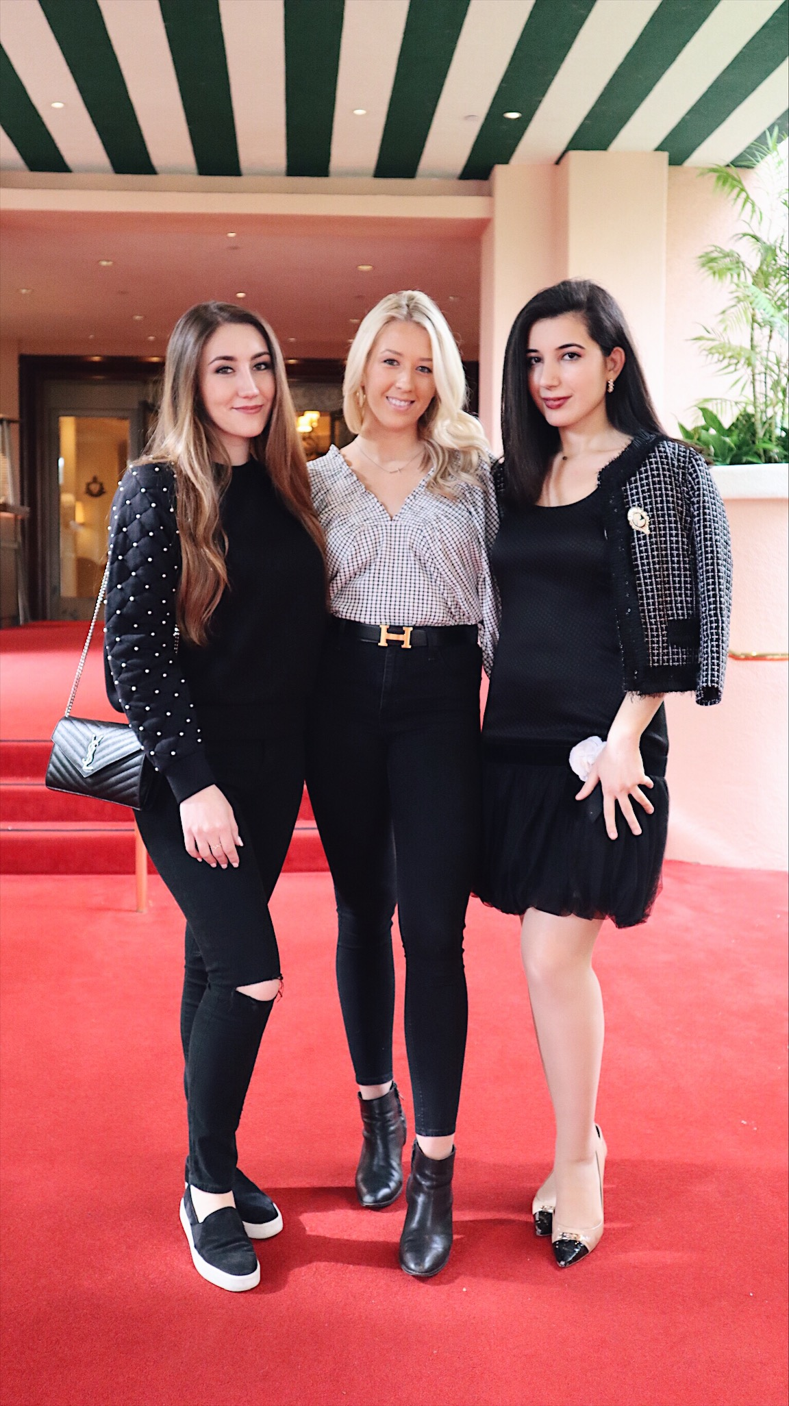 Beverly Hills Hotel, brunch, brunch outfit, lookbook, Chanel, vintage, fashion blogger, style blogger, outfit of the day, ootd, lookbook, Coach shoes, little black dress, LBD, pink and black, ladies who lunch
