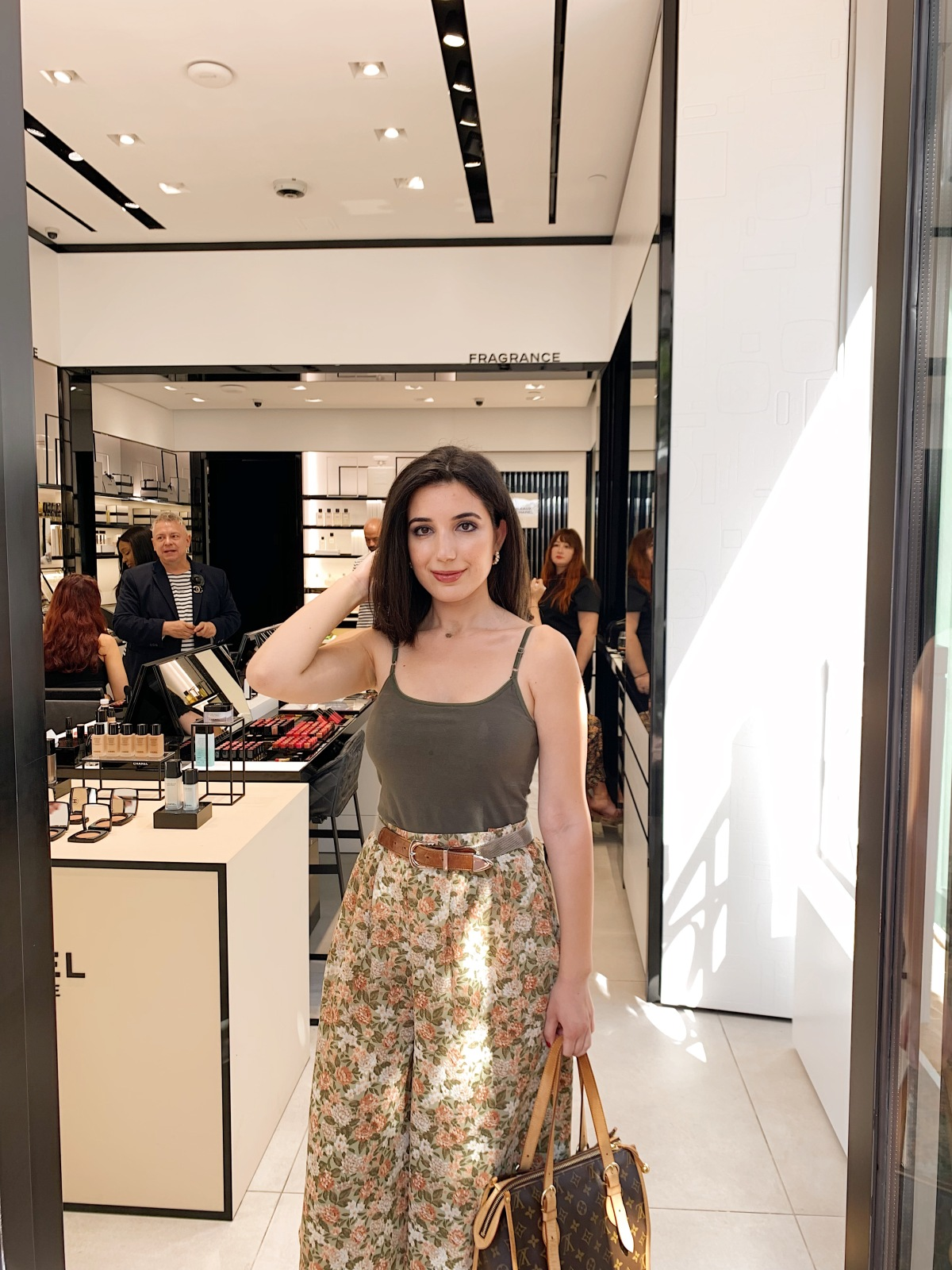 Chanel Beauty, Chanel perfume, Chance by Chanel, Palisades Village, Pacific Palisades shopping, beauty event, LA events, style blogger, beauty blogger, lifestyle blogger, lookbook, ootd, Chanel, vintage, luxury, self care, Chanel A La Plage