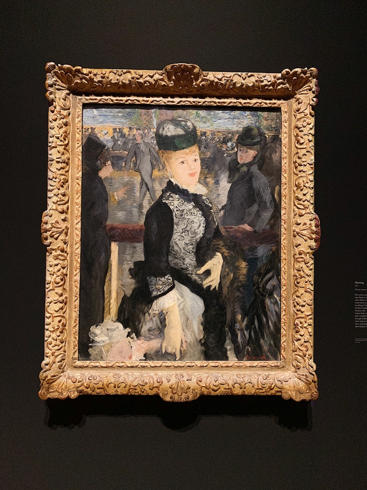 """Edouard Manet, Getty Museum, Manet, Manet and Modern Beauty, Art, Manet's """"Skating"""", french modernist painting"""