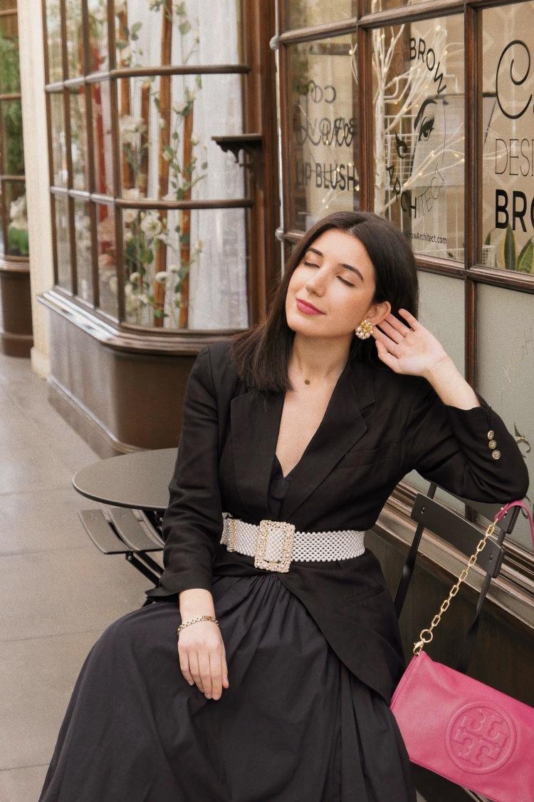 Burlington Arcade, Pasadena, lifestyle blogger, SoCal, Southern California, LA blogger, LA city guide, city guide, fashion blogger, ootd, black dress, black blazer, pearls, Zara, vintage, vintage fashion, vsco fashion, vsco, lookbook, lotd, what I wore