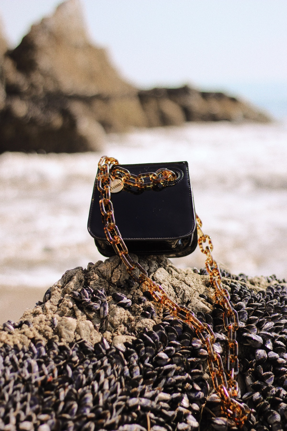 House of Want purse, accessories, El Matador Beach, affordable luxury, purse editorial, accessories editorial, beach photography