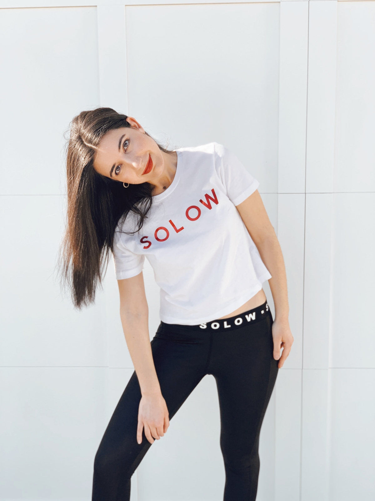 activewear, athleisure, loungewear, luxury loungewear, lookbook, athletic, fashion editorial, SOLOW, leggings, T-shirt, fashion blogger, style diary, sporty fashion, gym outfit, ootd, outfit of the day, at home, at home workout, workout wear, what I wore, spring fashion, 2020 fashion, APL, Daniella Clarke, Gilby Clarke, Frankie Clarke