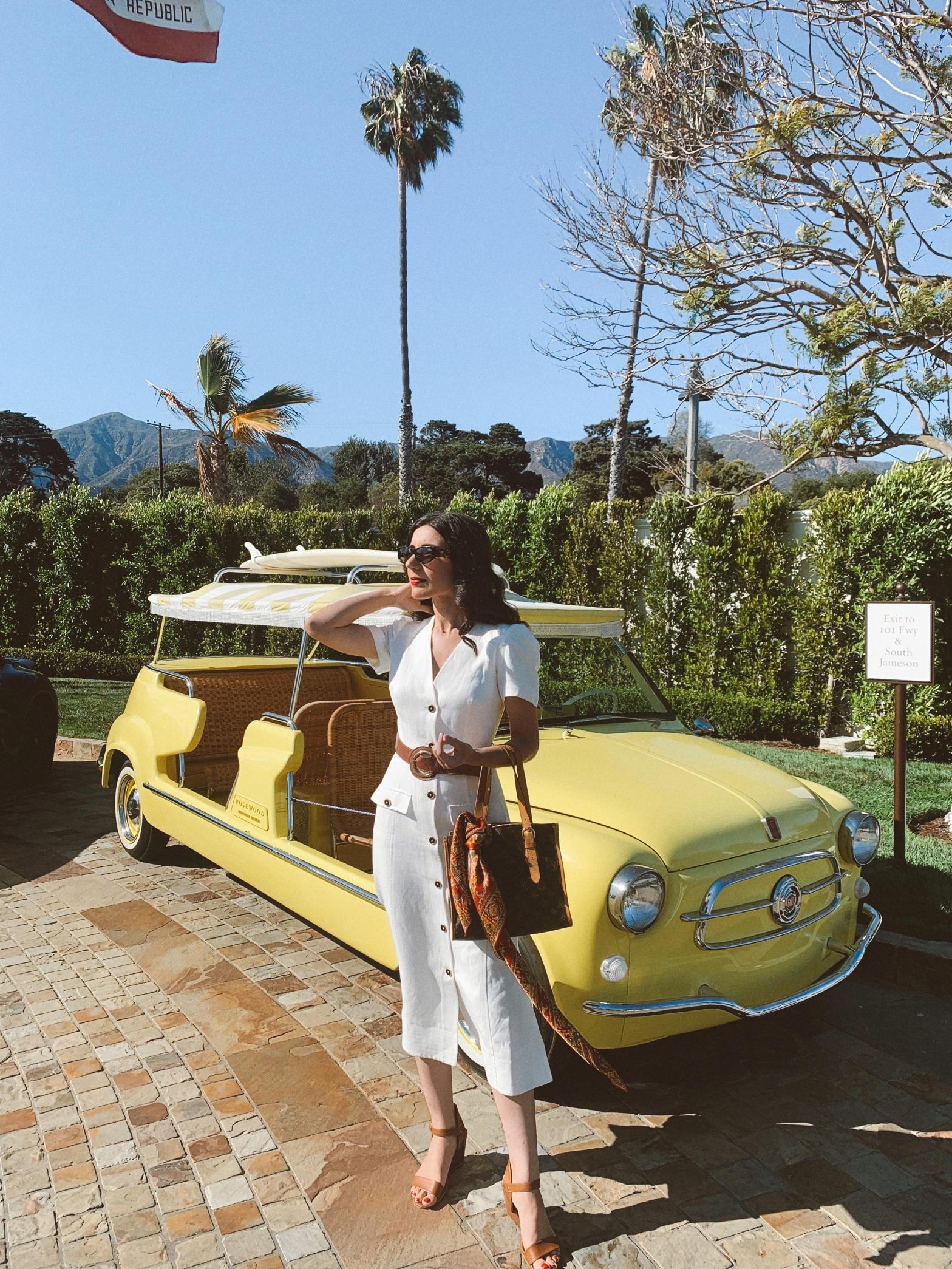 Dior, Dior Pop-up Rosewood Miramar, Rosewood Miramar Beach, Montecito, Santa Barbara, Meghan Markle, Karen Millen, summer fashion, summer 2021, Louis Vuitton, silk scarf, beach fashion, Grace Kelly, Grace Kelly style, American Riviera